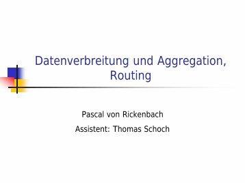 Datenverbreitung und Aggregation, Routing