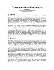 Zeitsynchronisation in Sensornetzen - The Distributed Systems Group