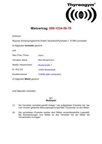 Mietvertrag: 04-2012-04-20