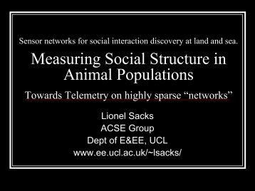 Sensor networks for social interaction discovery at land and see.