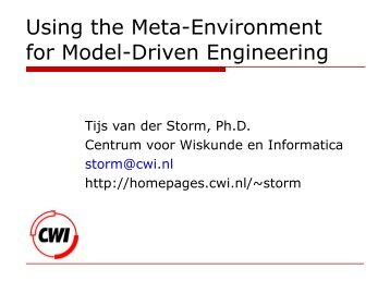 Using the Meta-Environment for Model-Driven Engineering
