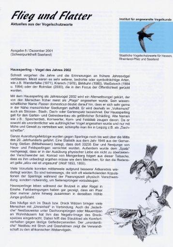 Aktuelles aus der Vogelschutzwarte - Staatliche Vogelschutzwarte ...