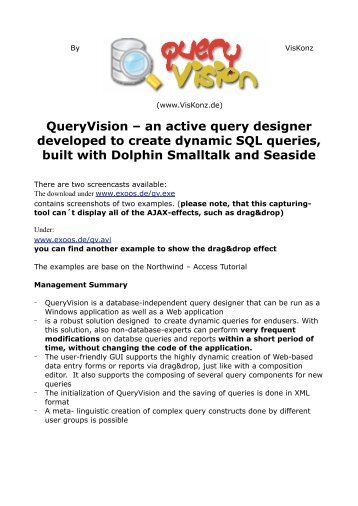 QueryVision ? an active query designer developed to create ...