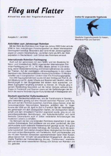Flieg und Platter - Staatliche Vogelschutzwarte für Hessen ...