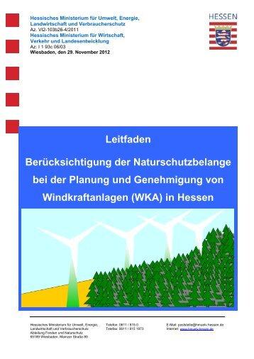 Gemeinsamer Erlass zur - Staatliche Vogelschutzwarte für Hessen ...