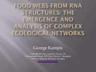 Food Webs From RNA Structures: The Emergence and ... - VW