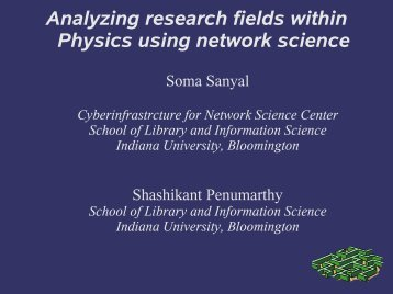 Analyzing research fields within Physics using network science