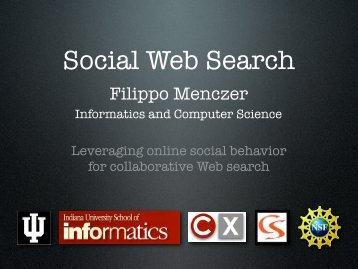 Social Web Search - VW