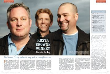 kosta browne winery - Vineyard & Winery Management Magazine