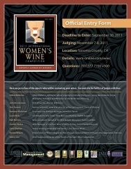 Official Entry Form - Vineyard & Winery Management Magazine