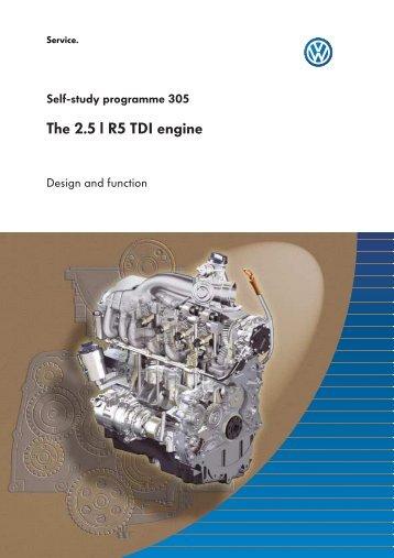 ssp305 The 2.5 l R5 TDI engine