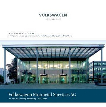 Historische Notate 14: Volkswagen Financial Services AG