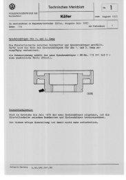 Technische Merkblätter (PDF; 5,8 MB ) - Volkswagen Classic