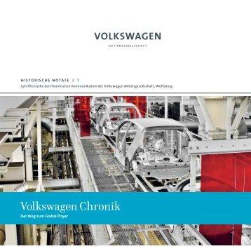 Historische Notate 7: Volkswagen Chronik - Volkswagen Konzern