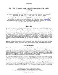 Ultrafast all-optical signal processing: toward optical packet ...