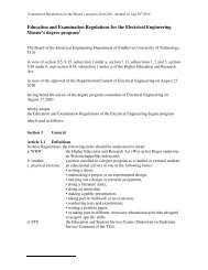 Education and Examination Regulations for the Electrical ...
