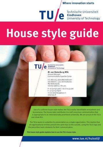 House style guide - Technische Universiteit Eindhoven