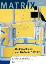 een betere batterij - Technische Universiteit Eindhoven