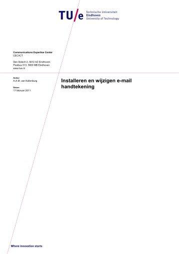 Installeren en wijzigen e-mail handtekening - Technische ...