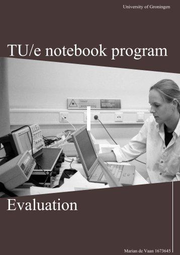TU/e notebook program - Technische Universiteit Eindhoven