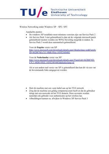 Wireless Networking onder Windows XP – SP2 / SP3 Aandachts ...