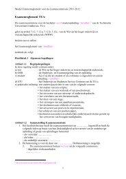 Model Examenreglement voor de examencommissie 2011-2012 ...
