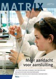 Meer aandacht voor aansluiting - Technische Universiteit Eindhoven