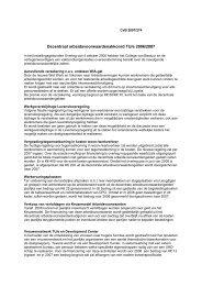 Decentraal arbeidsvoorwaardenakkoord TU/e 2006/2007