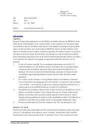 Aan Metis Groep (MG) Van MCC Datum 02 – 06 – 2008 Betreft ...