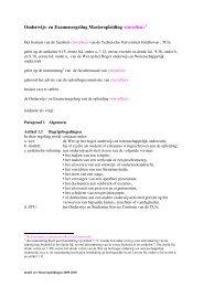 Onderwijs- en Examenregeling Masteropleiding