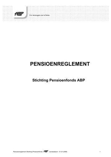 Pensioenreglement d.d. 01-01-2007