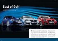 Von 170 bis 250 PS: Mit GT, GTI und R32 bietet Volkswagen das ...