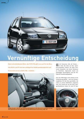 Vernünftige Entscheidung - Volkswagen