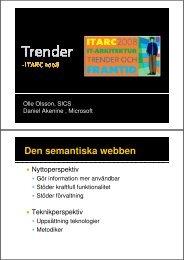 Den semantiska webben - SICS