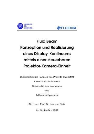 Fluid Beam Konzeption und Realisierung eines Display-Kontinuums ...