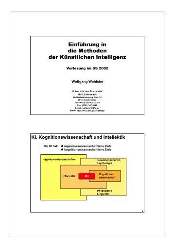 KI, Kognitionswissenschaft und Intellektik - Universität des Saarlandes