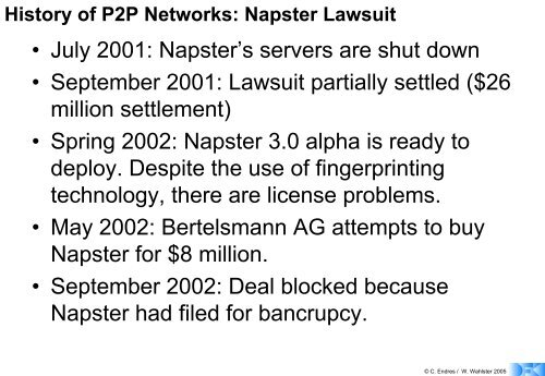 Characteristics of a P2P Network - About