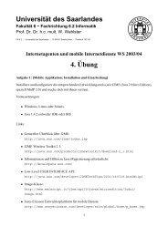 4.¨Ubung - Universität des Saarlandes