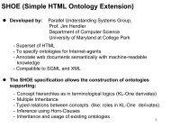 SHOE (Simple HTML Ontology Extension)