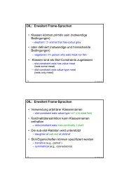 OIL: Erweitert Frame-Sprachen • Klassen können primitiv sein - About