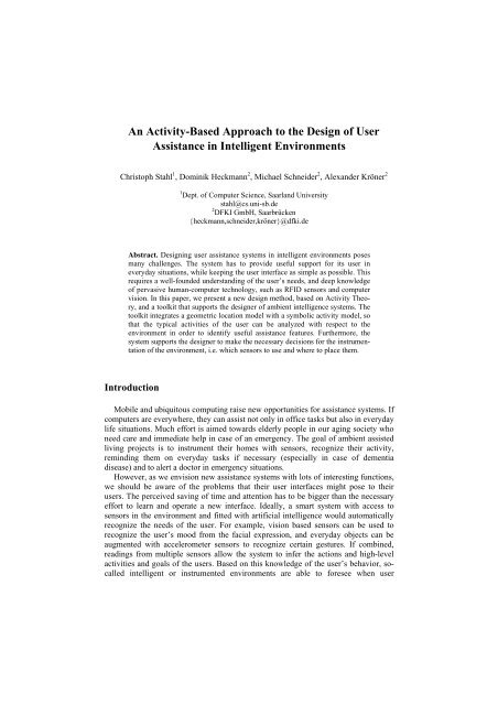 An Activity-Based Approach to the Design of User ... - About