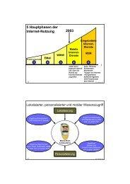 5 Hauptphasen der Internet-Nutzung 2003