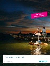 Siemens Sustainability Report 2008