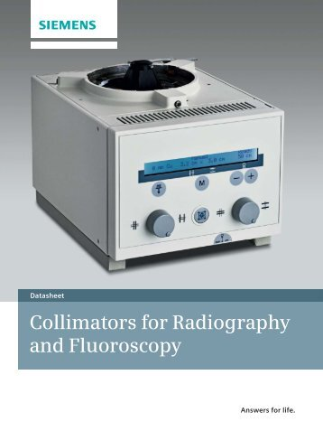 Collimators for Radiography and Fluoroscopy - Siemens