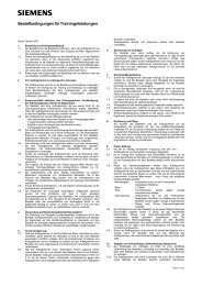 Allgemeine Geschäftsbedingungen für das Erbringen von ... - Siemens