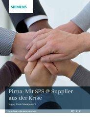 Pirna: Mit SPS @ Supplier aus der Krise - Siemens