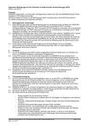 Allgemeine Bedingungen für die Teilnahme an ... - Siemens