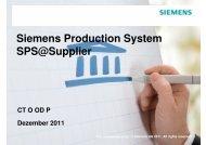 SPS@Supplier Prozess - Siemens