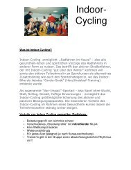 Indoor Cycling Beschreibung - Siemens