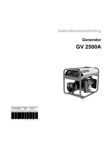GV 2500A - Wacker Neuson